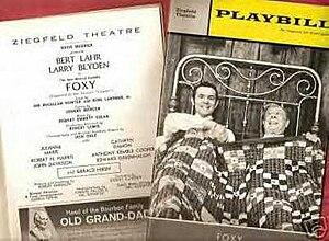 Foxy (musical) - Original Playbill