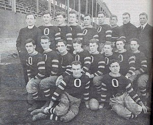 Ottawa Gee-Gees football - 1912 Garnet and Grey varsity football team. Coached by Father William Stanton (top left).