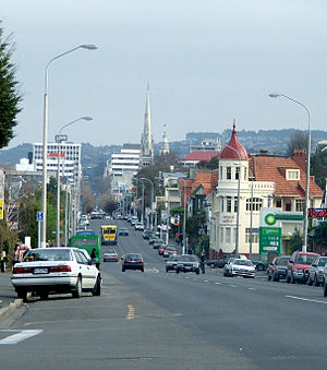 George Street, Dunedin - Looking south toward the city centre