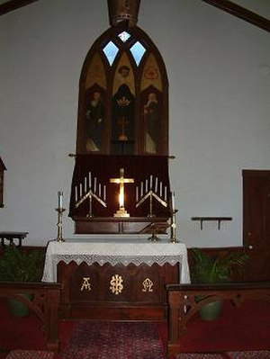 Grace Episcopal Church (Georgetown, Colorado) - The Altar and 1882 reredos