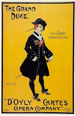 An early poster for The Grand Duke