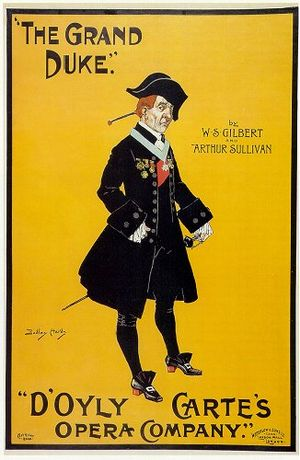 The Grand Duke - An early poster for The Grand Duke