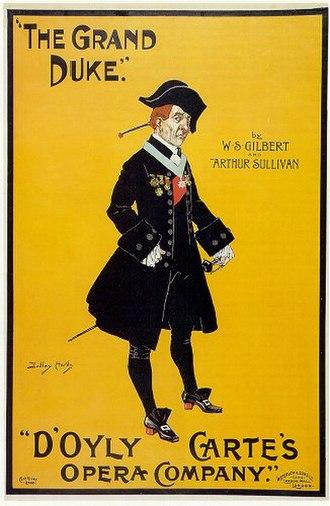 The Grand Duke - An early poster for The Grand Duke