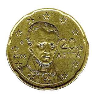 20 cent euro coin - Image: Greek 20 Euro Cent