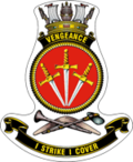Ship's badge for Vengeance, in the RAN format