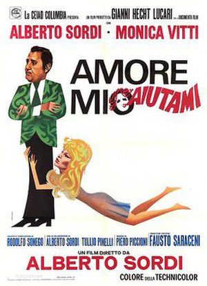 Help Me, My Love - Italian theatrical release poster