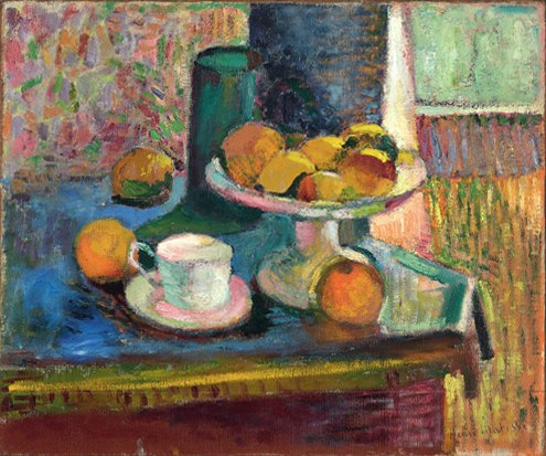 Henri Matisse, 1899, Still Life with Compote, Apples and Oranges, oil on canvas, 46.4 x 55.6 cm, The Cone Collection, Baltimore Museum of Art