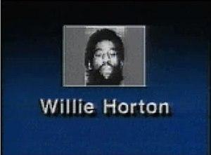 "Willie Horton's mug shot on the ""Weekend ..."