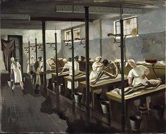 1945 in art - Image: Human Laundry, Belsen by Doris Zinkeisen