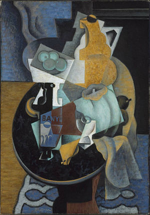 Fruit and a Jug on a Table - Image: Jean Metzinger, 1916, Fruit and a Jug on a Table, oil and sand on canvas, 115.9 x 81 cm, Museum of Fine Arts, Boston.