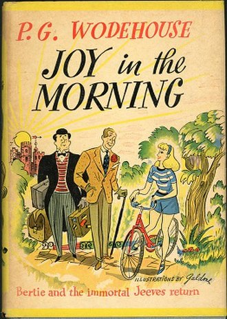 Joy in the Morning (Wodehouse novel) - First US edition