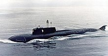K-141 Kursk Russian submarine.