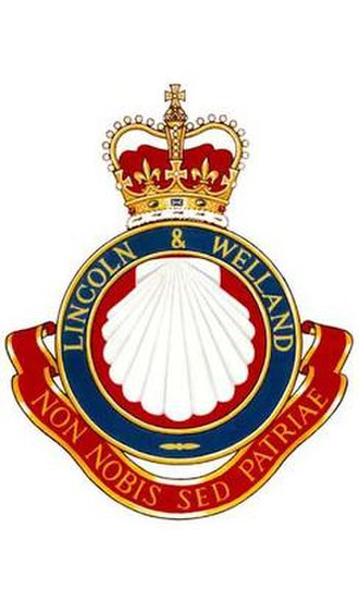The Lincoln and Welland Regiment - Image: L&W Regt Badge