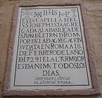 Typographic ligature - Capilla de San José, Sevilla. Several ligatures.