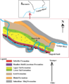 Location and Sketch Geological map of part of the Garhwal Synform, Ganga Valley.png