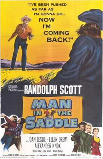 Man in the Saddle (1951 film) - Theatrical release poster
