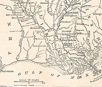 Battle of Pleasant Hill - Image: Map of the Red River Campaign of 1864 showing Pleasant Hill in Louisiana