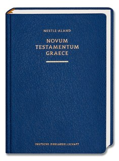 <i>Novum Testamentum Graece</i> Critical edition of the Greek New Testament