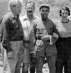 Owen Lattimore - Philip Jaffe, Owen Lattimore, Chu Teh and Agnes Jaffe. Yenan, June 1937