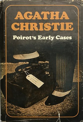 Poirot's Early Cases - Dust-jacket illustration of the first UK edition