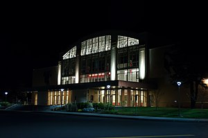 Houston Field House - Image: RPI Houston Field House at Night, Fall 2012