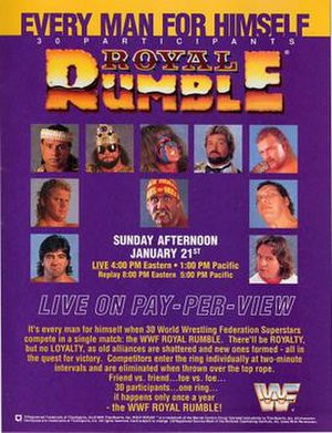 Royal Rumble (1990) - Promotional poster