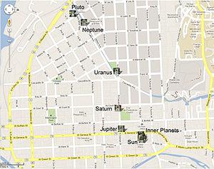 Sagan Planet Walk - Map of the Planet Walk