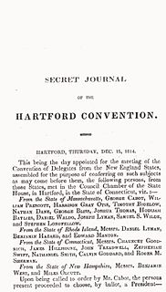 Hartford Convention 1814-1815 political meeting in Hartford, Connecticut, USA