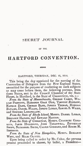Secret Journal of the Hartford Convention