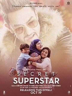 <i>Secret Superstar</i> 2017 Indian Hindi-language musical drama film