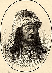 Sketch of Sitting Bull which appeared in the December 8, 1877 issue of Harper's Weekly