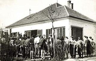 "Ústredňa Židov Judenrat (""Jewish council"") in Nazi-occupied Slovakia"