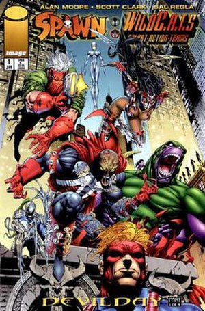 Spawn/WildC.A.T.S. - Cover of the first issue