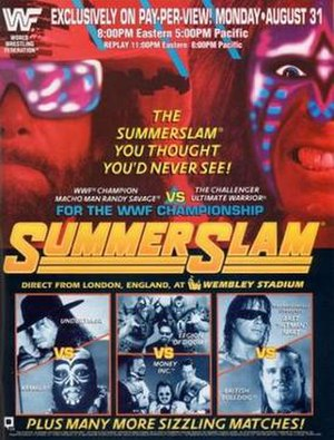 SummerSlam (1992) - Promotional poster
