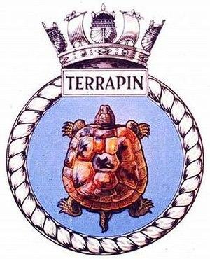 HMS Terrapin (P323) - Image: TERRAPIN badge 1