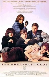 <i>The Breakfast Club</i> 1985 American coming-of-age comedy-drama film by John Hughes