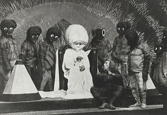 "Lost film - The First Men in the Moon (1919), a lost British film, reputedly ""the first movie to ever be based entirely on a famous science fiction novel""."