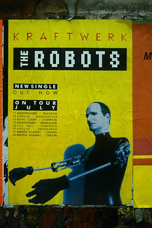 The Mix (Kraftwerk album) - Promotional poster for The Robots