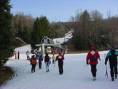 The Top Flight Quad at Ski Butternut
