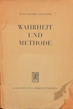 Truth and Method - Image: Truth and Method (German edition)