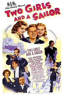<i>Two Girls and a Sailor</i> 1944 film by Richard Thorpe