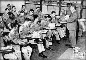 New York City College of Technology - Professor Herman Wald with U.S. Air Force 3310th School Squadron dental laboratory technology class in 1951.