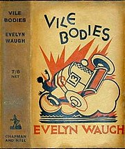Jacket of the first UK edition of Vile Bodies