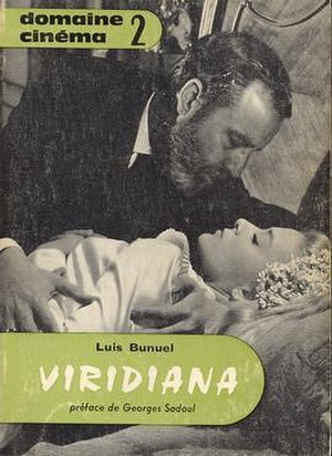 Fernando Rey - Fernando Rey with Silvia Pinal in Viridiana, in the cover of the film script book.