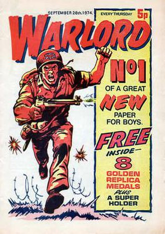 Warlord (DC Thomson) - The first issue of Warlord was published in 1974, included a free gift and cost 5p.