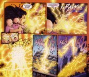 Wally and his family disappear into the speed force. Art by George Perez.