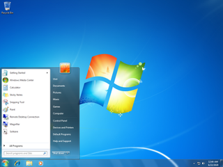 Windows 7 Personal computer operating system by Microsoft released in 2009