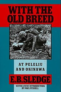 <i>With the Old Breed</i> book by Eugene Sledge