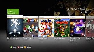 Xbox Live Arcade - Xbox Live Arcade on Xbox 360.