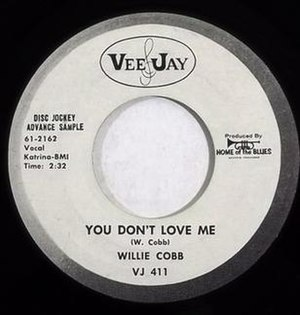 You Don't Love Me (Willie Cobbs song) - Image: You Don't Love Me single cover
